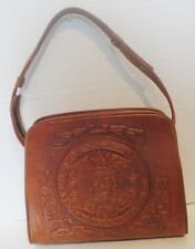 Vintage Mexican Tooled Leather Purse Pocketbook Handbag