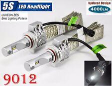 9012 HIR2 50W 8000LM 5S LED Headlight Bulbs 6K Philips ZES Chips Fanless Driving