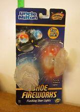 SHOE FIREWORKS Uncle Milton flashing shoe lights NWT kids lightshow