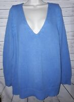 Lane Bryant Womans Vneck Sweater Blue Size 18/20 PT/A-87
