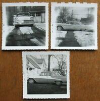 Vtg Lot of 3 1950s Car Photos 1958 Oldsmobile Super 88