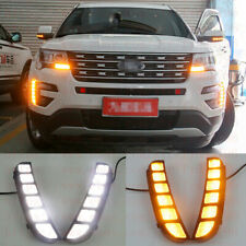 Direct Fit Vertical Mount LED Daytime Running Lights For 2016 2017 Ford Explorer