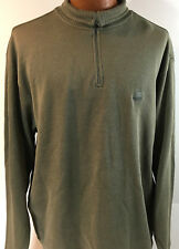 Izod Shirt Size Large 1/4 Zip Brown Cotton Pullover Mens