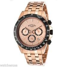 Rotary Mens Rose Gold Tone Dial Rose Gold Tone Stainless Steel Watch GB00172/25