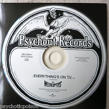 HELLACOPTERS – Everything's On T.V.  Promo CD-Single  Psychout HELLCDS-1