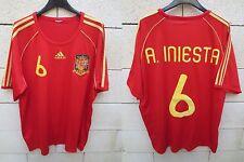 Maillot ESPAGNE Adidas ESPANA camiseta INIESTA n°8 Spain shirt XL trikot