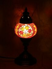 Turkish Moroccan Style Mosaic Multicolour Lamp Desk Table Lamp light Small Globe