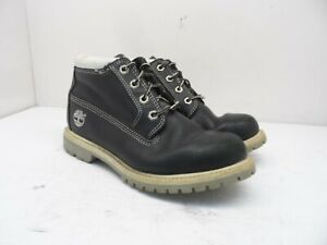 "Timberland Women's 6"" Nellie Waterproof Chukka Boots 22315 Black/White Size 7.5M"