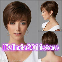 *Sexy Fashion Women's ladies short Brown Natural Hair full wigs* free Wig cap