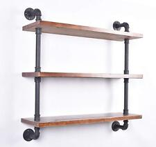 Industrial Pipe Wall Shelf,Storage Floating Shelving,25mm Pipe Kit 3 Tier 36''