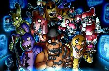 Five Nights at Freddys Game Poster Print T1312 |A4 A3 A2 A1 A0|