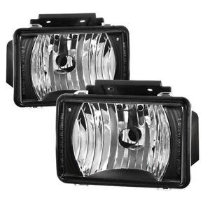 04-12 Chevy Colorado GMC Canyon Black Factory Style Fog Lights Bumper Lamps