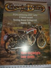 Classic Bike Magazine April/May 1980 Harley XR BSA Enfield GT New Imperial