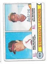 1979 Topps # 6 Nolan Ryan JR Richard Strikeout leaders G-VG