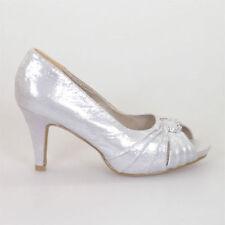 Women's Open Toe Stiletto Synthetic Bridal or Wedding Heels