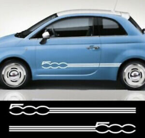 X2 Side Fiat 500 Abarth Side Stripes Decals Stickers Graphics
