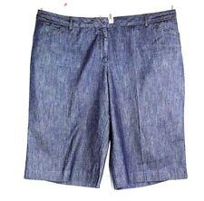 Cato Stretch Dark Denim Bermuda Walking Long Shorts Women's Plus Sz 26 W  NEW
