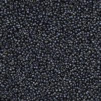 Miyuki Size 15/0 (1.5mm) Round Japanese Seed Beads 15-451 Gunmetal 8.2g (N23/2)