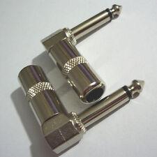 "2pcs 1/4"" TS Right Angle Mono Phone Plug Connector 6.3MM Jack HYCG"