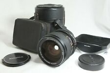 【NEAR MINT-】 KONICA HEXANON AR 24mm f/2.8 w/ Metal Hood, Leather Case from JAPAN