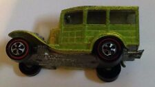 Mattel Hot Wheels Red Line 1968 Classic 1931 Ford Woody Olive Green great shape