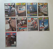 Old school BMX  80's -  Lot 9 magazines FREESTYLIN' (USA) année 1989
