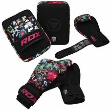 RDX Women's Pink Kick Boxing Gloves MMA Focus Pads Ladies Hook and Jab Mitts