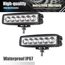 6inch 18W LED Single Row Work Slim Light Bar Spot OFFROAD DRIVING LAMP SUV ATV