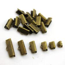 200pcs(6mm-20mm)cord coupler Key fob hardware diy charm ribbons crimp End Clamp