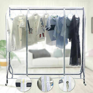 NEW Heavy Duty Strong Clear Waterproof 4ft Clothes Tidy Rail Cover (Cover Only)