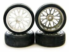 Traxxas 1/10 Nitro 4-Tec Pro-Trax Wheels, Tires & 12mm Hexes, GREAT PERFORMANCE