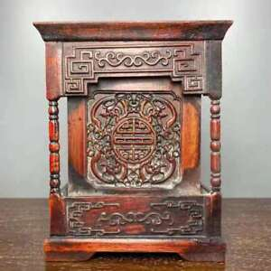 Chinese Natural Rosewood Hand-carved Exquisite Brush Pot