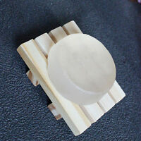 Board Wooden Natural Wood Bamboo Bathroom .Oval Rectangular Shower Soap Dishes#