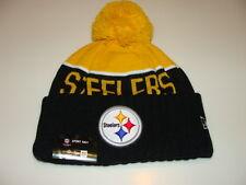 Pittsburgh Steelers трикотажа на поле New Era ток Beanie проигрыватель боковой, Hat Cap
