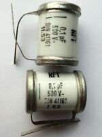 4x NOS 0.1uF/500V RFT SIKATROP Ölpapier Kondensatoren/capacitor Tube Amp