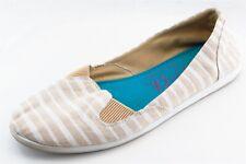 Blowfish Loafers Beige Fabric Women Shoes Size 8.5 Medium (B, M)