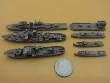 7 Various Lead / Metal Naval Warships - Pre WW I & WW I War Ships - Loose