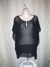 Short Sleeve Cheer Blouse 0X Jennifer Lopez Black Gold Dec,100% polyester