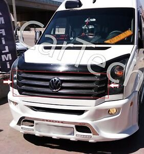 VW VOLKSWAGEN CRAFTER CHROME FRONT GRILL COVER TRIM 5PCS S.STEEL 2012-2016