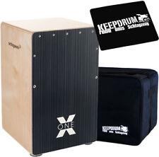 Schlagwerk CP160 X-One Hard Coal Stripes Cajon + keepdrum  Gig Bag + Pad CP-01