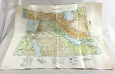 1941 WW2 Military Map of The Persian Gulf Arabia Middle East War Office Issue