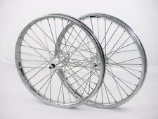 """Voloci electric bike wheels, 17"""" DOT Moped rims on Bicycle Hubs"""