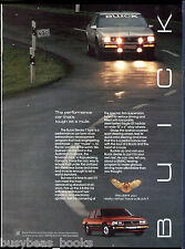 1986 BUICK ELECTRA T-Type advertisement, Buick sedan