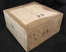 Exact Piece American Holly Lumber Turning Stock 6x6x3 Bowl Making Inlays Crosses