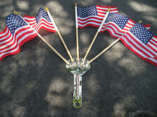 NEW METAL VINTAGE STYLE FLAG HOLDER AND 5 FLAGS !