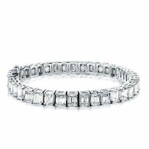 Transparent Colorless White 45.00CT Cubic Zirconia Engagement Women's Bracelets