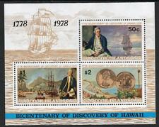 COOK ISLANDS MNH 1978 SG587 Discovery of Hawaii M/S