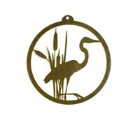 Heron and Cattails Rustic Metal Wall Art, Home Decor, Wall Hanging, Nature Gift