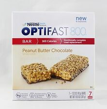 NEW FORMULA | OPTIFAST® 800 MEAL REPLACEMENT BAR | PEANUT BUTTER | 1 BOX