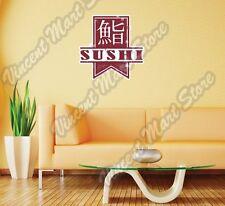 "Japanese Sushi Fish Restaurant Grunge Wall Sticker Room Interior Decor 22"""""